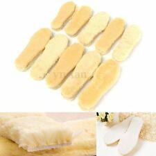 1 Pair Spare Sheepskin Sheep Fur Insoles Pads Mats Cushion F. Shoes Boots Winter