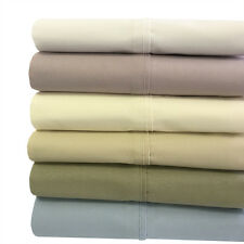 Queen Percale Weave Solid  Bed Sheet 300 TC Set 100% Cotton Set