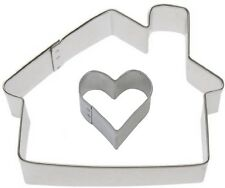 2 Piece Cottage House with Mini Heart Set Cookie Cutter Set NEW!