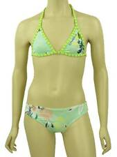 O'Neill Bikini Flower Stripe Yellow Green Neckholder Triangle