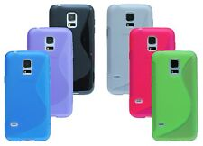Silicone Rubber Protection + Foil for Samsung Galaxy S5 Mini G800F Accessories