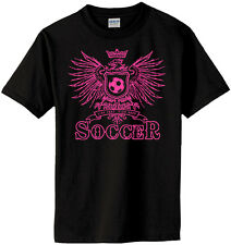 Girls Soccer Play Hard T-Shirt Jersey Short or Long Sleeve New Youth or Adult