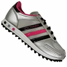 ADIDAS ORIGINALS LA TRAINER CHILDREN GIRLS SNEAKER SHOES SILVER BLACK PINK