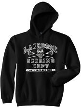 Lacrosse Athletic Black Hooded Pullover Sweat Jersey New Youth & Adult Sizes