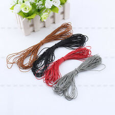 Hot Waxed Cotton Cord String Linen Thread Wire Jewelry Bracelet Making 10M 1mm