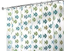 Blue Green Fishy PEVA Vinyl Shower Curtain Bath Home Fish Aquariam Bathroom  A