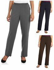 Donnkenny Women's Slimming Panel Pull-on Elastic Dress Casual Pant Petite 10P