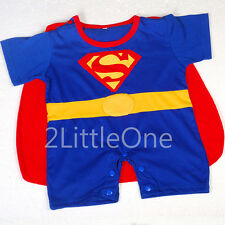 Superman Hero Baby Boy Romper Fancy Party Costumes Outfit Infant Sz 3-24m FC013
