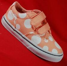 VANS WINSTON PEACH/DOTS Girl's/Toddler's Canvas Sneakers Skate Fashion Shoes NEW