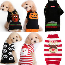 Pet Dog Christmas Clothes Costumes Puppy Cat Knit Sweater Coat Hoodie Apparel