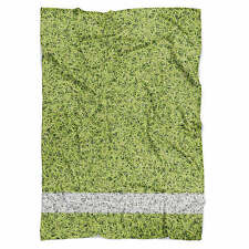 Football Sports Pitch Fleece Blanket - Soft Faux Fur Throw
