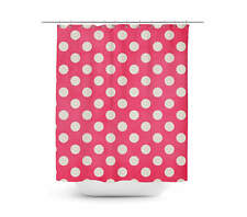 Polka Dots on Hot Pink Shower Curtain - Unique in 4 sizes for any Bathroom