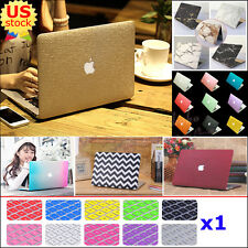 """2in1 Marble Rubberized Matte Hard Case Cover for MacBook Air 13"""" A1369 A1466"""