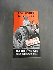 Vintage Antique Goodyear Farm Implement Tractor Tires Advertising Brochure