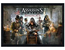 Assassins Creed Black Wooden Framed Syndicate Maxi Poster 61x91.5cm