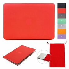 For Macbook Air /Pro/Retina Case 11''13''15''Hard Rubberized Laptop Shell Cover