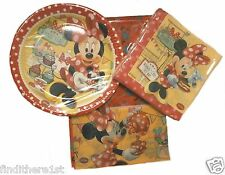 Minnie Mouse Party Bags Tableware Plates Cups Napkins Balloons Banners Birthday