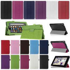 Magnetic Folio Leather Stand Cover Case for New Amazon Kindle Fire 7 2015 Tablet