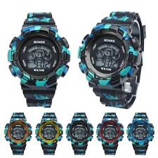 Waterproof Cool Mens Boys Watch LED Quartz Alarm Date Sports Digital Wrist Watch
