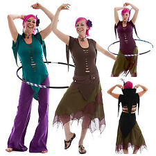 LONG SLASHED BACK FAIRY PIXIE TOP trance festival clothes 6 8 10 12 14 16 18 20