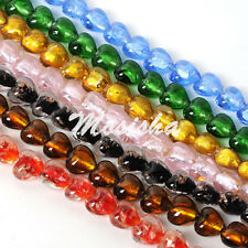 1 Strand Crystal Glass Faceted Love Heart Loose Bead fit Jewelry Necklace Making