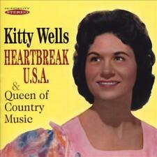 KITTY WELLS - HEARTBREAK U.S.A./QUEEN OF COUNTRY MUSIC USED - VERY GOOD CD