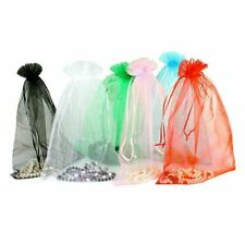 100 PCS Sheer Organza Wedding Party Decoration Favour Gift Bags Candy Pouches