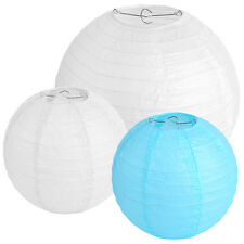 8PCS New Round Paper Lanterns Lamp Wedding Birthday Party Decorations 8'' 12''