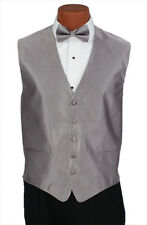 Large Mens Iris Herringbone Wedding Party Prom Fullback Tuxedo Vest Formal