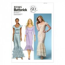 Free UK P&P - Butterick Ladies Easy Sewing Pattern 5985 Evening Dresses w...