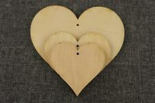 Plain Wooden Hearts Shape Tag Blank Craft Emblishment Decoration Hanging