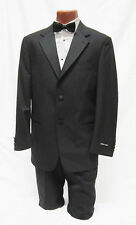 New 46 Reg Mens Black 2 Button Notch Tuxedo Jacket w/ Pants Packege Prom Outfit