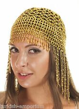 Cleopatra Beaded Belly Dance Headpiece Headwear Cap Hat Fancy Dress Costume NEW