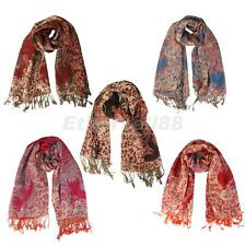 Fashion Winter Ladies Neck Pashmina Jacquard Cashmere Shawl Warm Wrap Scarf Top