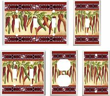 SOUTHWEST CHILI PEPPERS #10  LIGHT SWITCH COVER PLATE    U PICK PLATE SIZE