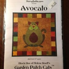 Garden Patch Cats Quilt Block Design by Helen Knott's StoryQuilts Pattern NIP