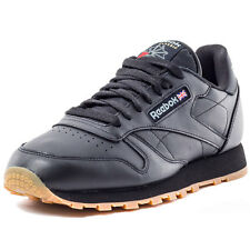 Reebok Classic Leather Mens Leather Black Gum Trainers