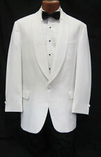 36R White Shawl Tuxedo Dinner Jacket Pants Bow Tie Prom Package Spring Formal