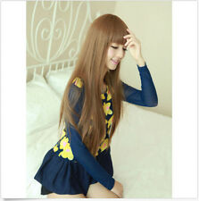 Korean Womens Sexy Party Cosplay Wigs Full Long Straight Hair Wig Fashion Wigs
