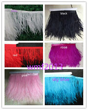 Pretty 1-10 yards 8-10 cm /3.2-4 inch Natural Ostrich Feathers ribbon Multicolor