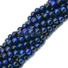 Strand Natural Blue Gemstone Round Loose Spacer Beads Jewelry Craft Making 15""