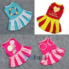 Cute New Various Pet Puppy Mini Dress Apparel Small Cat Dog Skirt Stripe Clothes
