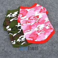 Sweet Pet Dog Cat Camo Clothes Hoody Apparel Puppy Doggy Camouflage T-shirt Coat