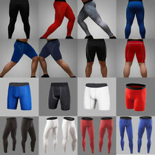 Men's Tight Sport Wear Compression Under Base Layers Gear Skin Shorts Long Pants