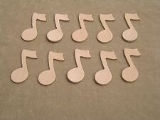 (10) Veg Tan Cowhide Tooling Leather Music Notes