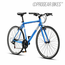 Progear FB100 Flat Bar Road Bike 700C 50/53/56cm Bicycle Anodised Blue