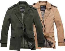 Men's Premium Slim Fit Casual Cotton Blazer military Jacket work casual Coat HOT