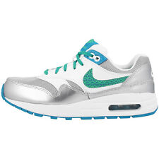 NIKE AIR MAX 1 GS SHOES SNEAKER WHITE BLUE GREEN 807605-100 LTD CLASSIC 90 95