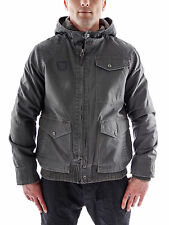 Volcom Winter Jacket grey hood Zip Fleece Pockets