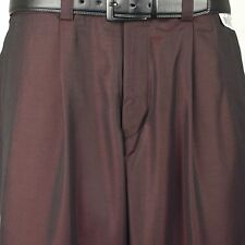 "Steve Harvey SLACK 38"" Waist  Solid Burgundy Dress Slack - PP27"